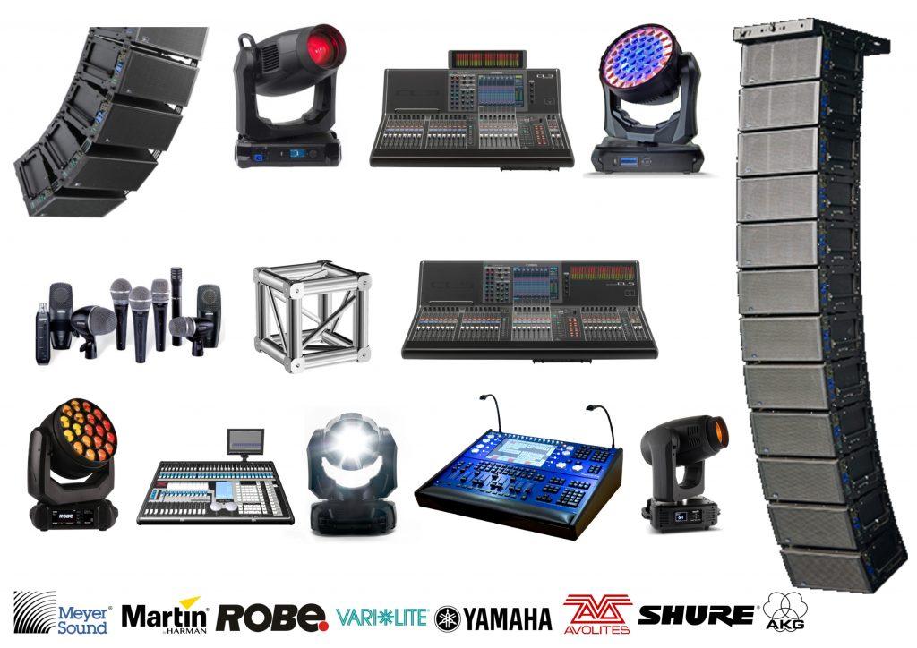 equipos de sonido e iluminacion profesional en Alicante